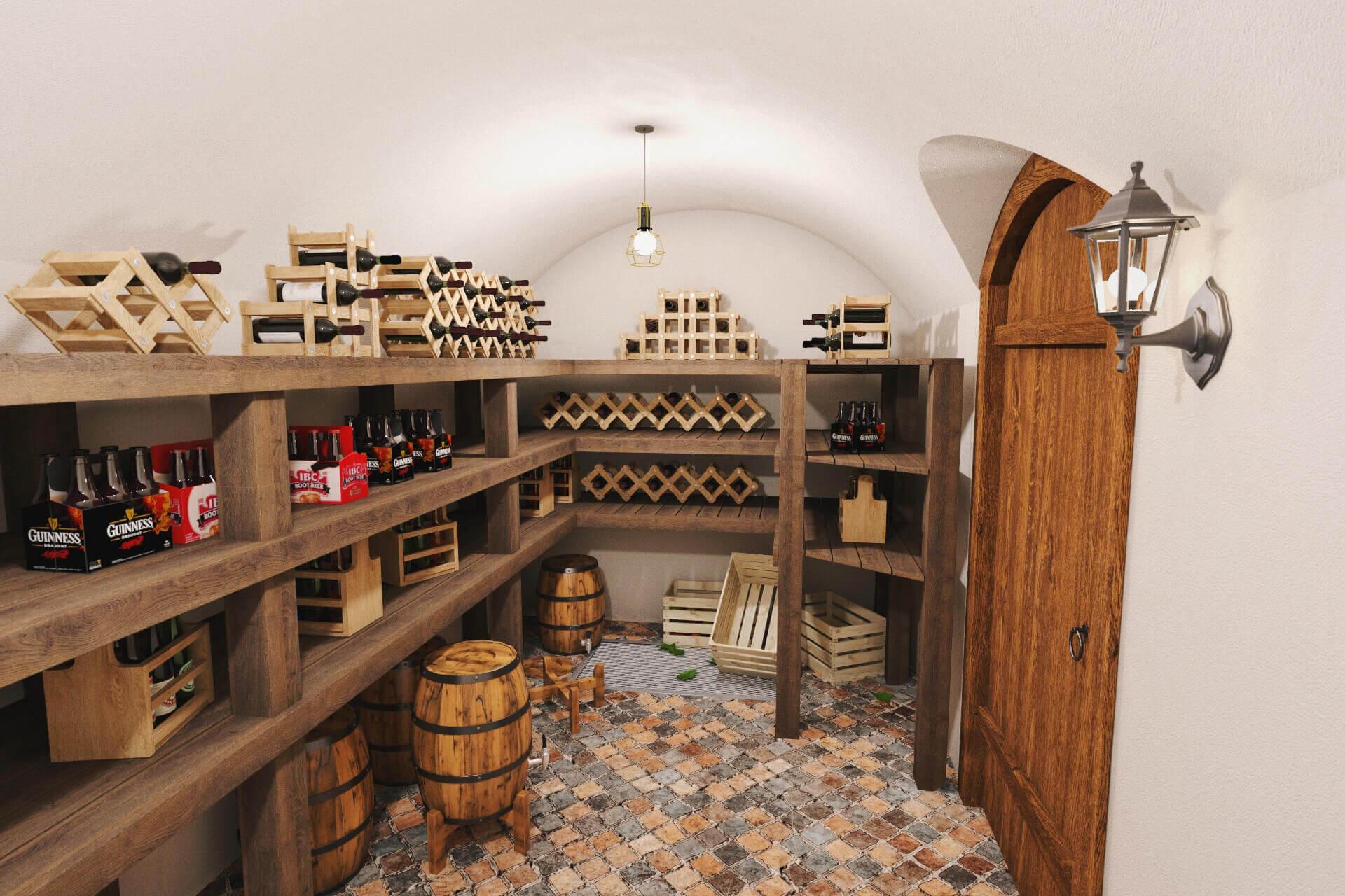 Beer or cider cellar
