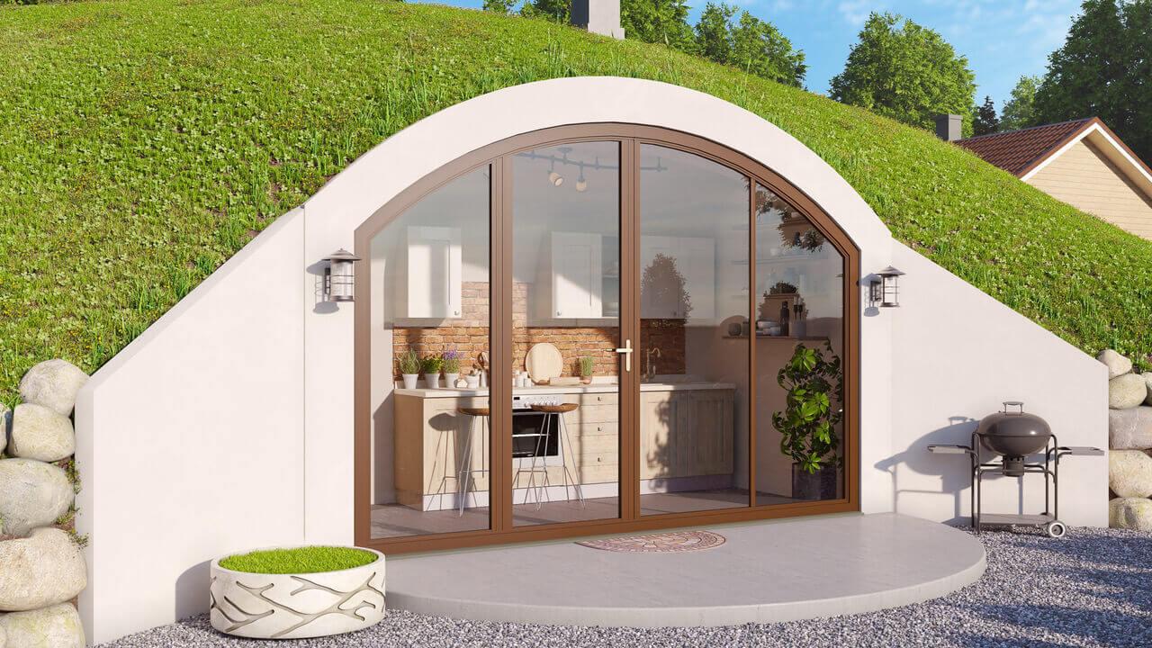 Ein Gartenhaus mit Kreuzgewölbe