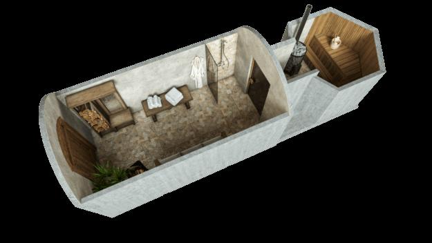 Sauna 14.2 m² STANDARD PACKAGE