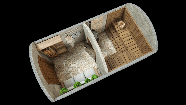 Sauna 9.7 m² STANDARD PACKAGE