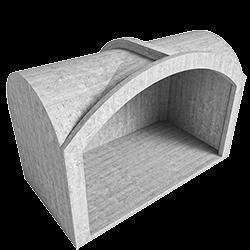 Cross vault module